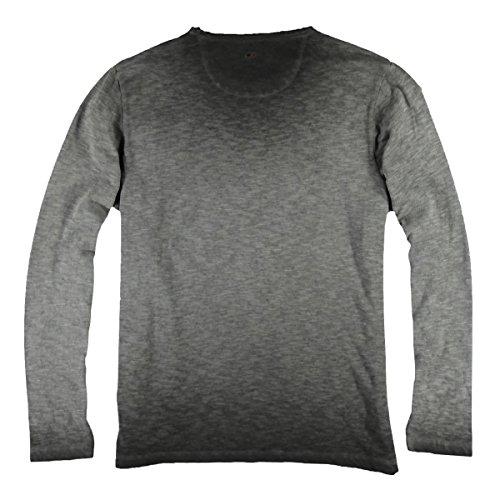 emilio adani Herren Serafino Shirt, 23382, Grau