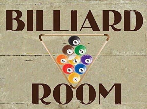 Sala de billar Metal Sign, sala de juegos, den, hombre cave, Rack ...