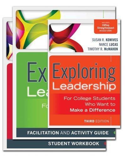 The Exploring Leadership Facilitator Set 3rd edition by Komives, Susan R., Lucas, Nance, McMahon, Timothy R., Wagner (2013) Paperback