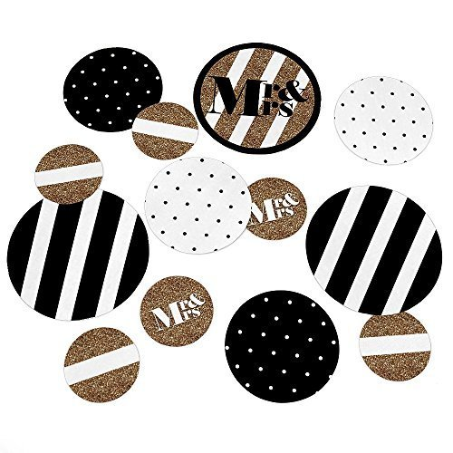 Mr. & Mrs. - Gold - Wedding Table Confetti Set - 27 Count