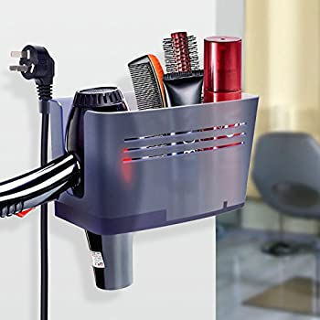 Charmant FAMLOVE Hair Dryer Holder Wall Mount Bathroom Beauty Appliance Storage  Organizer Plug Hook, Bathroom Accessories