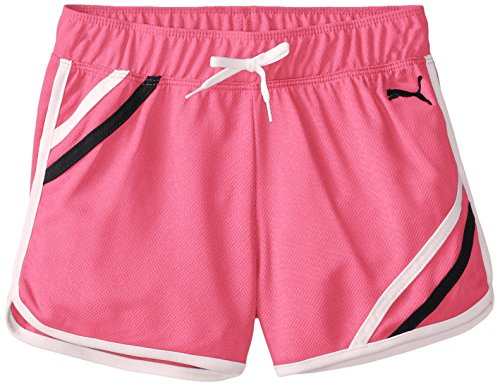 Puma Big Girls Mesh Gym Short With Taping poodle pink