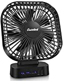 Battery Operated Fan, Portable Rechargeable Fans, Battery Operated Personal Fan, Rechargeable Car/Desk Fan, Gazeled Quiet USB Fan for Camping, Home, 5 Inch Electric Desk Fan with Timer, 5200mAh(8-40H)