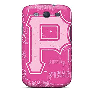 Bumper Hard Cell-phone Cases For Samsung Galaxy S3 (NpV14776rVAf) Provide Private Custom Vivid Pittsburgh Pirates Series