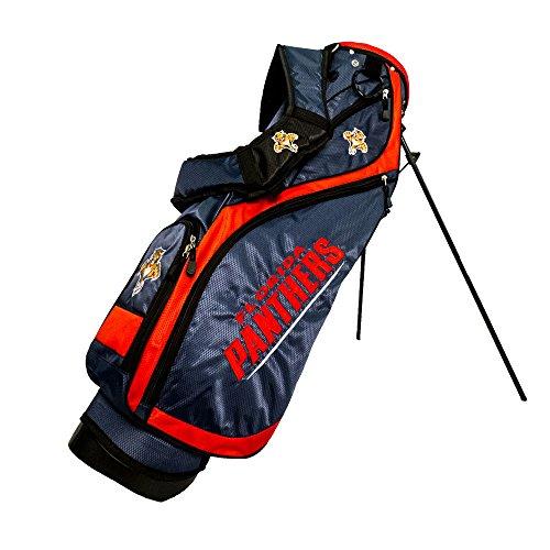 (Team Golf NHL Florida Panthers Nassau Golf Stand Bag, Lightweight, 4-Way Top w/Integrated Handle, Spring Action Stand, 4 Zipper Pockets, Padded Strap, Umbrella Holder & Removable Rain Hood)