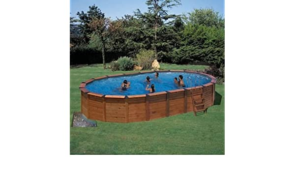 Piscina star pool neptune (madera+acero) 6,40 x 4,25 x 1,25m ...