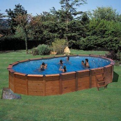 Piscina star pool neptune (madera+acero) 6,40 x 4,25 x 1,25m KITNPOV615: Amazon.es: Juguetes y juegos