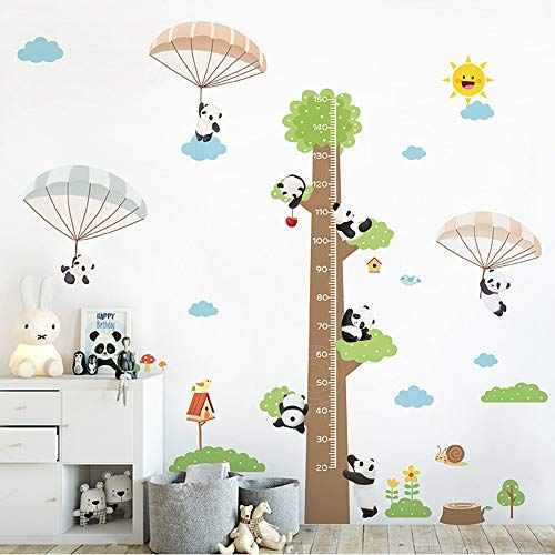 (SHAN'S Wall Sticker Wallpaper Decoration Children's Height Wall Stickers Can Be Removed Baby Height Height Cartoon Decorative Painting Panda Body Height Sticker Measuring Ruler)