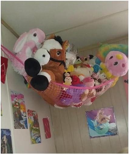 Jouet Hamac, Huijukon Jumbo jouet Hamac dangle jouet Peluche Hamac Hamac Filet de rangement organisateur | Taille : 182,9 x 121,9 x 121,9 cm pour peluche Jouets, animaux en peluche, Teddies, peluches: Amazon.es: Bebé