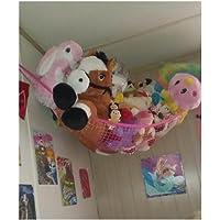 "Toy Hammock, Huijukon Jumbo Toy Hammock Corner Toy Hammock Cuddly Toy Storage Hammock Net Organizer for Cuddly Toys, Stuffed Animals, Teddies, Soft Toys | Size: 72"" x 48"" x 48"" Pink HJK3107PNK"