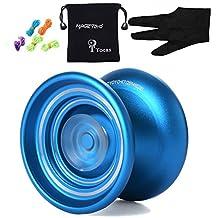 Responsive MAGICYOYO K7 Aluminum Yo-yos Ball for Beginners with Bag+ Glove+ 5 Strings