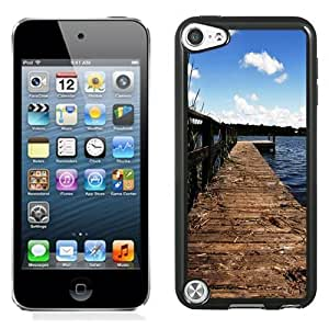 NEW Unique Custom Designed iPod Touch 5 Phone Case With Lake Wharf Dock_Black Phone Case