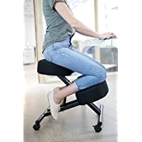 Sleekform Kneeling Posture Chair | Adjustable Ergonomic Office Stool with Wheels for Computer Work, Gaming, Meditation and Back Relief | Breathable Mesh Fabric