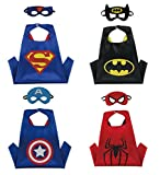 Dress Up Superhero Costumes with Satin Capes and Matching Felt Masks