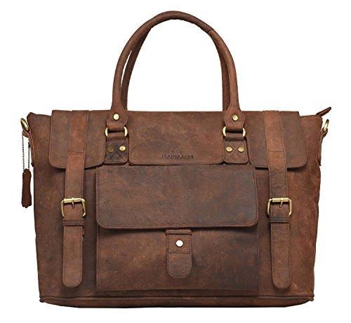 Leaderachi Leather Laptop Messenger Bags  3088 01