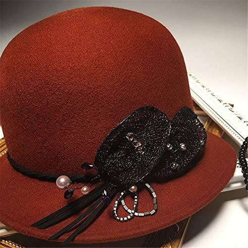 Sombrero Mujer Sweetstyle High Winter De Elegante Para Dome 1 Rojo Copa End dcOInOq