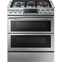 Samsung Appliance NX58K9850SS 30 Slide-in Gas Range with Sealed Burner Cooktop, 5.8 cu. ft. Primary Oven Capacity, in Stainless Steel