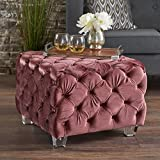 Kay Tufted New Velvet Ottoman (Blush) Review