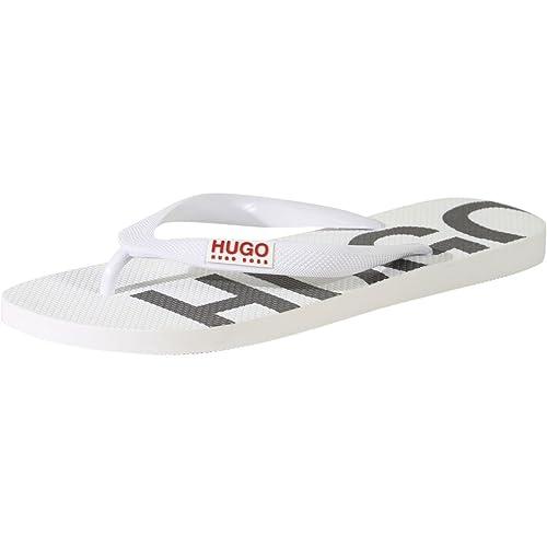 uk availability 5c033 6d939 Hugo Boss Men s On Fire White Flip Flops Sandals Shoes Sz  ...