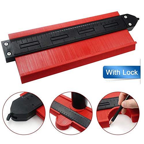 Contour Gauge with Lock 10 Inch Contour Duplication Gauge,Copier Shape Marking Tool for Measuring Plastic Tiles,Ruler