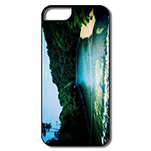 IPhone 5 5S Hard Plastic Cases, River White/black Cases For IPhone 5/5S