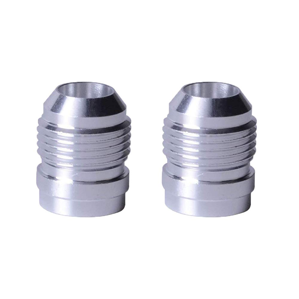 EVIL ENERGY 6AN Male Weld On Fitting Bung Hose Adapter Fuel Oil Aluminum Pack Of 2