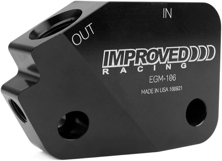 Improved Racing EGM-106 Low-Profile Oil Cooler Adapter for GM LS Engines 12AN