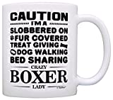 Dog Lover Gifts for Women Crazy Boxer Lady Dog Mom Owner Gift Coffee Mug Tea Cup White