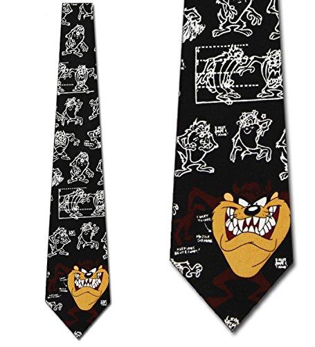The Making of Taz Tie - Mens Looney Tunes Necktie ()