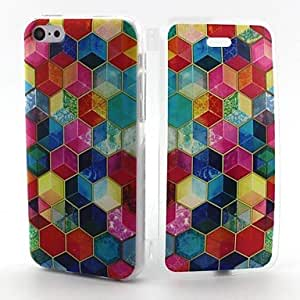 Colorful Box Pattern TPU Full Body Case with for iPhone 5C