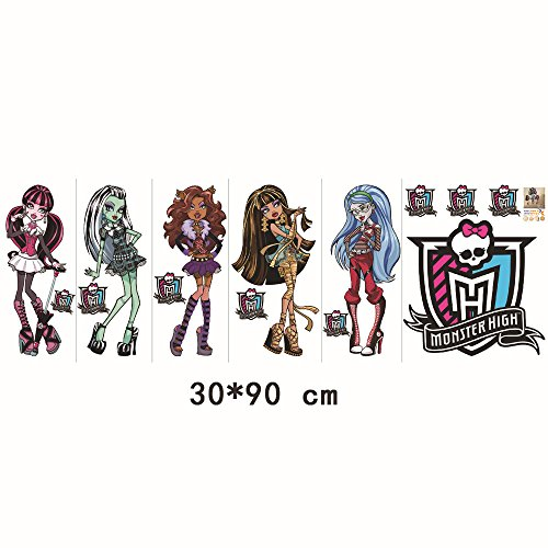 Fangeplus(TM Removable Monster High DIY Art Vinyl Quote Wall Sticker Decal Mural Home Stickers Decor 35''x23'' ()