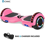 Chic Rechargeable Hoverboard for Kids and Adults with Wireless Speaker and LED Flashing Lights Safety Certified