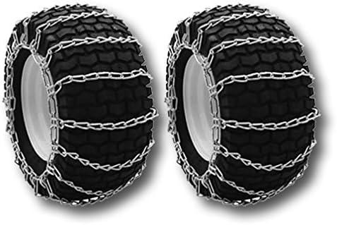 20x8x8 Heavy Duty Tractor Tire Chains Set of 2 TireChain.com 20x8.00x10