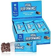 Vital Performance Protein Bar, Healthy Snacks, 20g of Protein, 10g of Collagen Peptides, Gluten F...