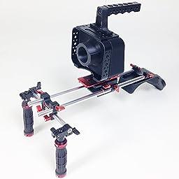 SunRise BMCC Cage Shoulder Rig Kit for Blackmagic Cinema Camera Cage DSM802+M