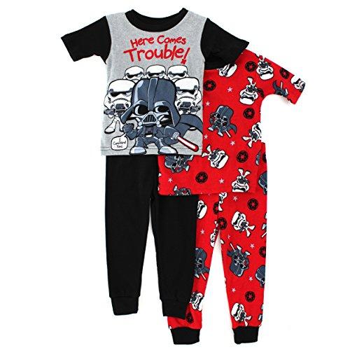 Amazon.com: Star Wars Toddler 4 pc Cotton Pajamas Set (4T): Clothing
