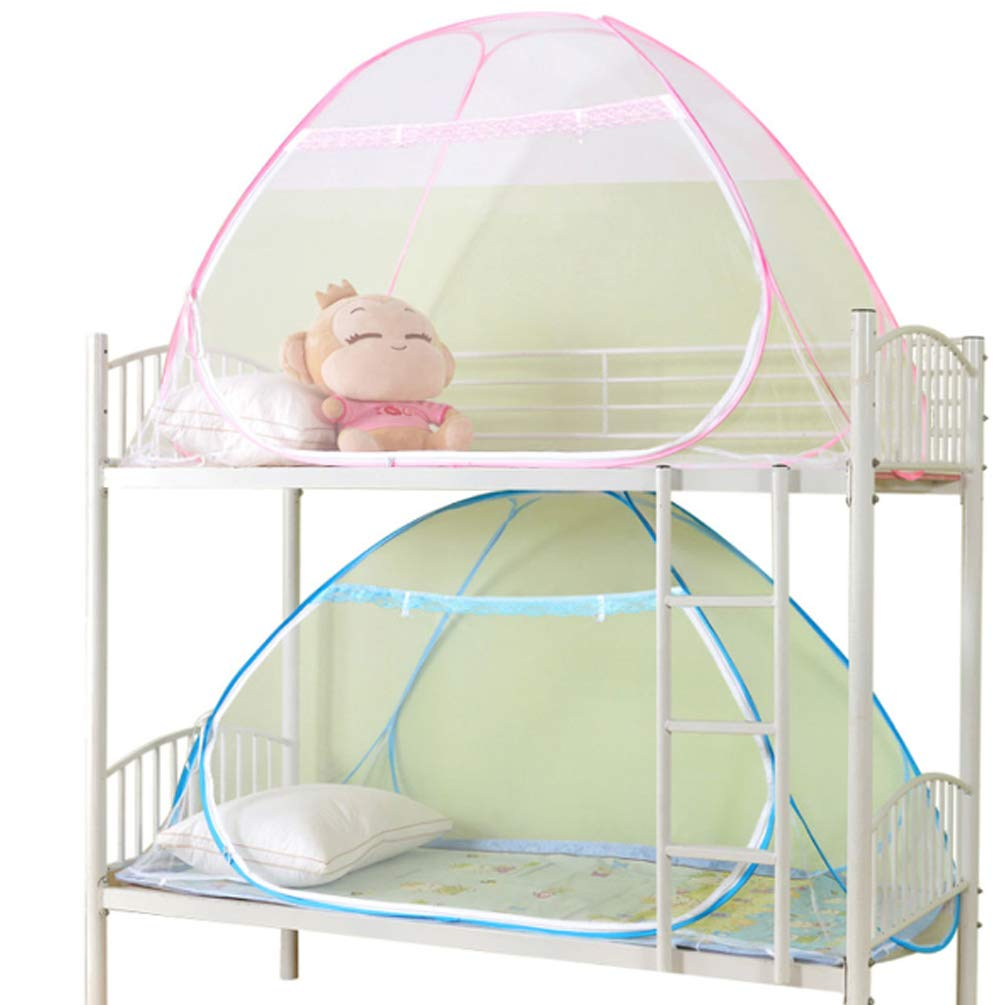 XGYUII Student Dormitory Mosquito Net Bed Canopy Tent Foldable Mongolian Mosquito Net Prevent Insect Pop Up Bites (9019595Cm),bottmlessblue,9019595cm