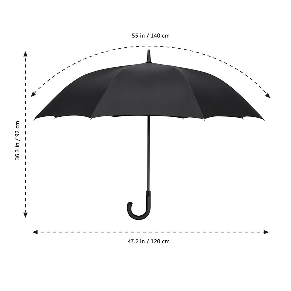 f9e0f9ac74cd6 Plemo Oversized Rain Umbrella Windproof Extra Large Golf Umbrellas Auto  Open Long-Handle with Durable Polyester Rib (Black 8 Ribs): Amazon.com.au:  Sports, ...