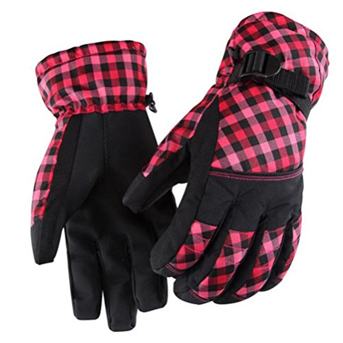 Fengtre Women Fashion Windproof Thinsulate Thicker Fleece Lined Winter Cold Weather Ski Snowboard Gloves