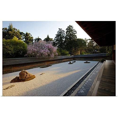 - GREATBIGCANVAS Poster Print Entitled Evening Light on Rock Garden, Ryoanji by 18