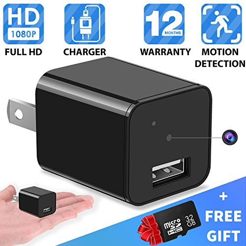 Spy-camera---Hidden-camera---32GB-Included---HD-1080P---Usb-Hidden-camera---Surveillance-camera---Mini-spy-camera---Nanny-camera---Best-Spy-camera-charger---Hidden-camera-charger---IMPROVED-2018