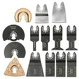 BephaMart 14pcs Multi Tool Saw Blade Accessories kit for Dewalt Fein Multimaster Bosch Makita