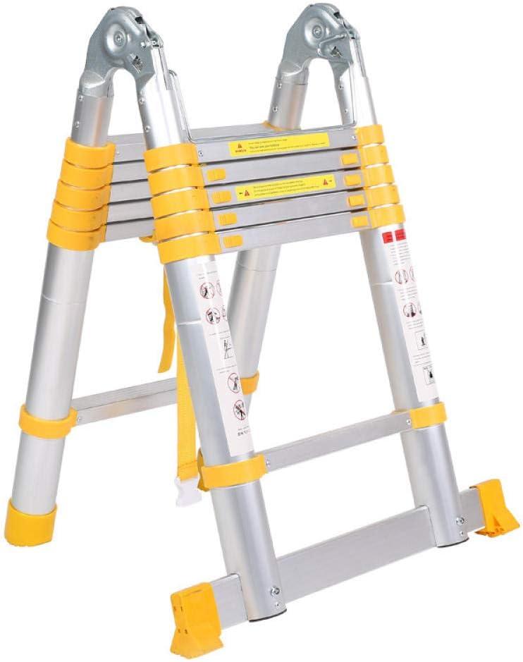 TAYIBO Escalera Multifunción Plegable, Escalera Articulada con Plataforma, Escalera Multifuncional Amarilla, Espiga, aleación de Aluminio Engrosada telescópica: Amazon.es: Hogar