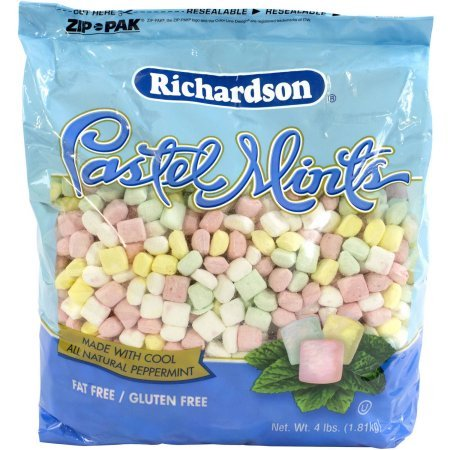 Richardson Pastel Mints 4lbs Bag (Pack of 2) by Richardson