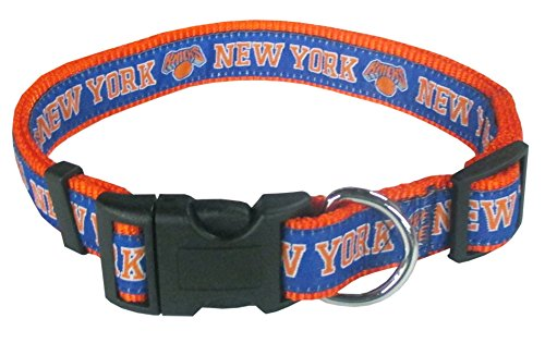 NBA NEW YORK KNICKS Dog Collar, Size Large. Best Pet Collar for all Sports ()