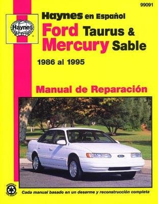 amazon com haynes ford taurus and mercury sable 86 95 spanish rh amazon com 1995 ford taurus sho manual transmission 1995 ford taurus service manual download