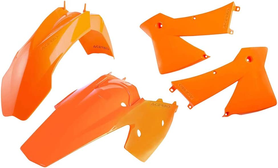 Polisport Radiator Scoops KTM Orange for KTM 400 EXC 4 Stroke 2001-2002
