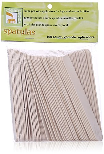 Clean Plus Easy Body Wood Applicator Spatula, Large, 100 Count by Clean Plus Easy