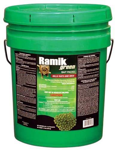 NEOGEN RODENTICIDE 60-Pack Ramik Rat and Mouse Bait Pail, 4-Ounce
