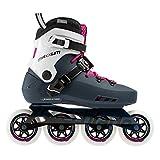 Rollerblade Maxxum Edge 90 Womens Adult Fitness Inline Skate, Sapphire and Raspberry, Premium Inline Skates